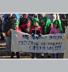 Marsze październikowe z przesłaniem: Amazonek,  Senioriada, Strajk żywności