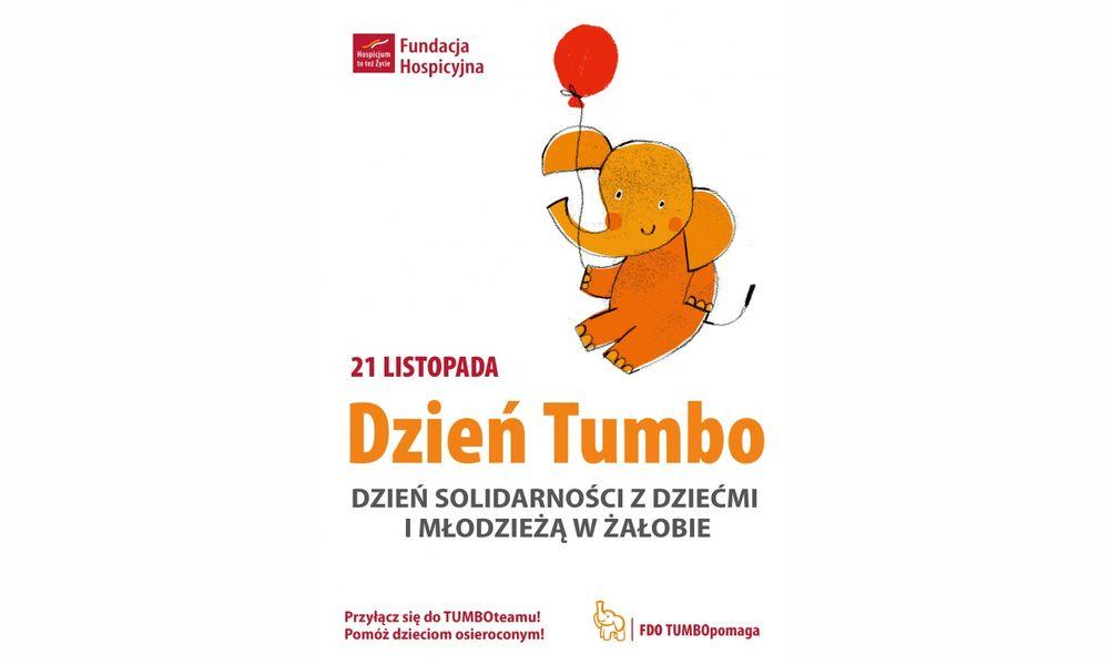 Pomarańczowy Słonik Tumbo wspiera osierocone dzieci i nastolatków