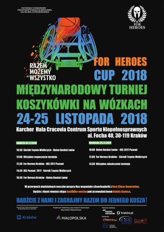 Turniej koszykówki na wózkach w Krakowie