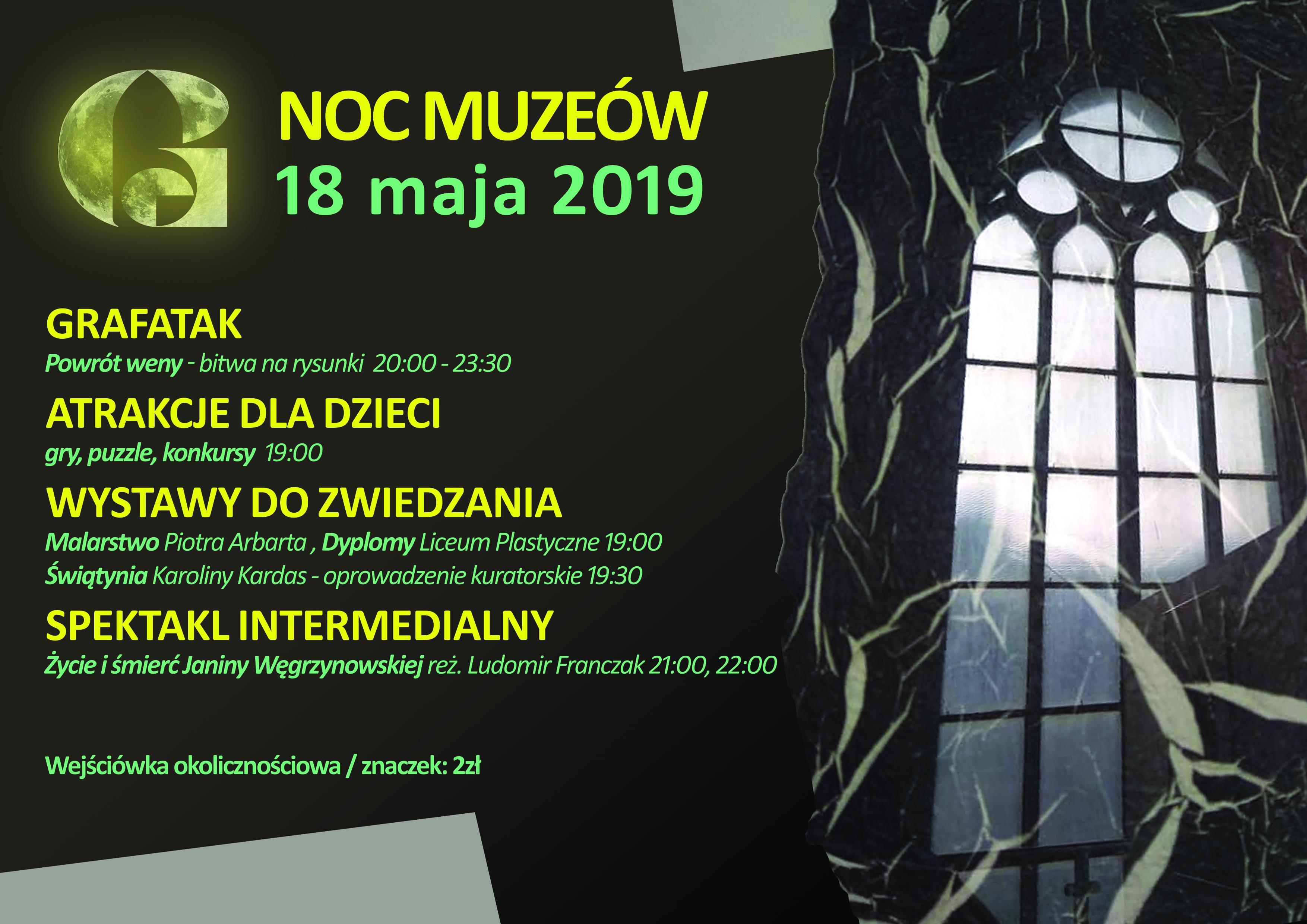Noc Muzeów w Galerii EL – Grafatak, spektakl, wystawy i konkursy