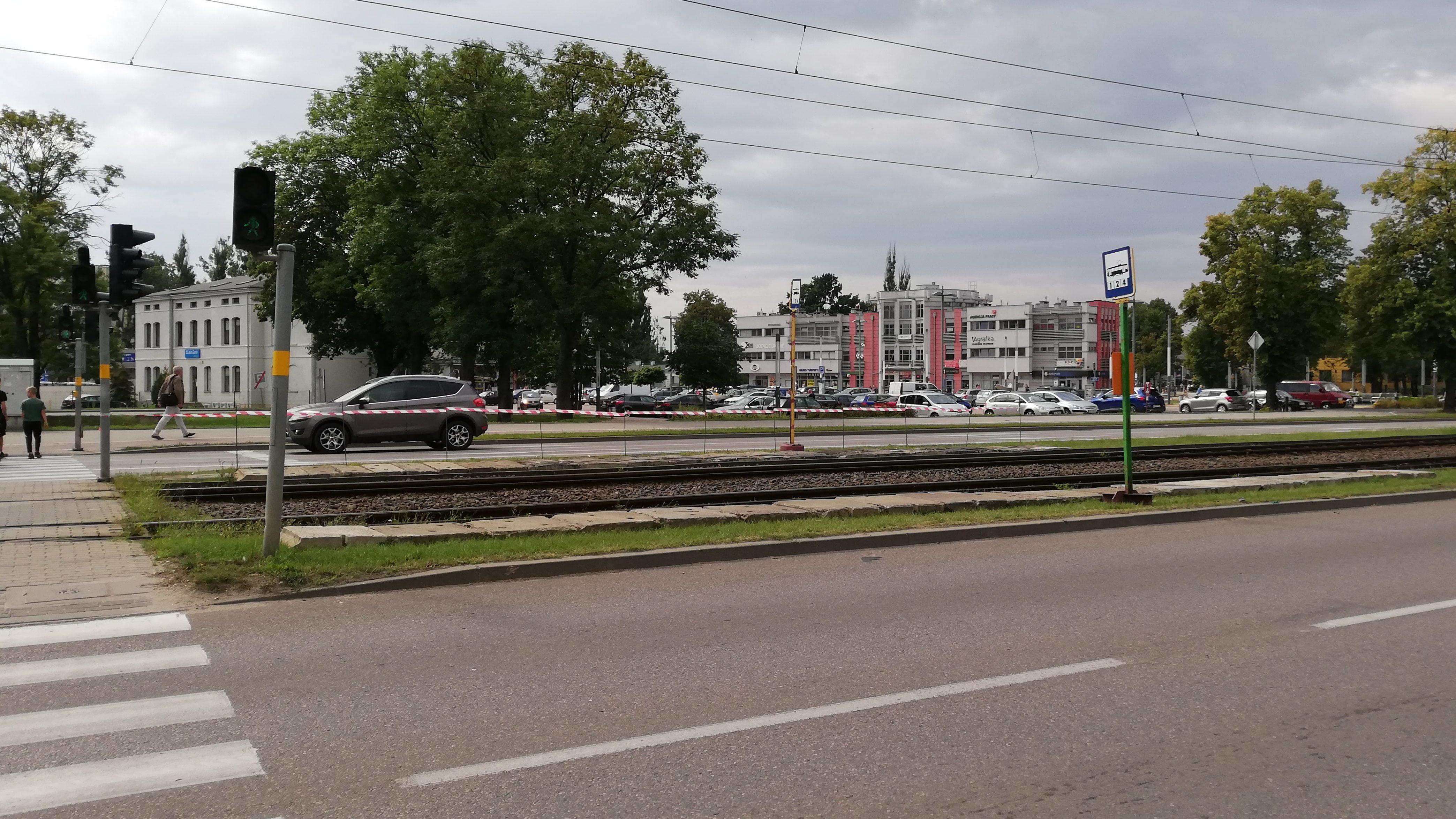 Przystanek tramwajowy przesunięty ze względu na roboty budowlane