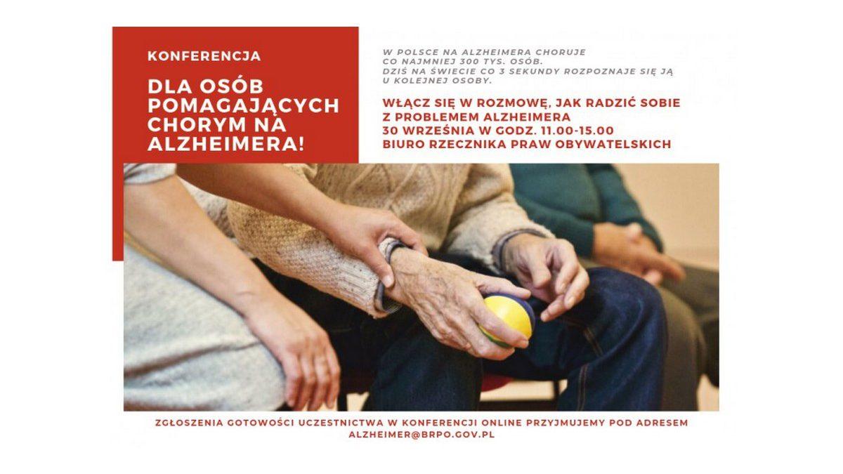 Spotkania dla osób pomagających chorym na Alzheimera. Weź udział w konferencji RPO
