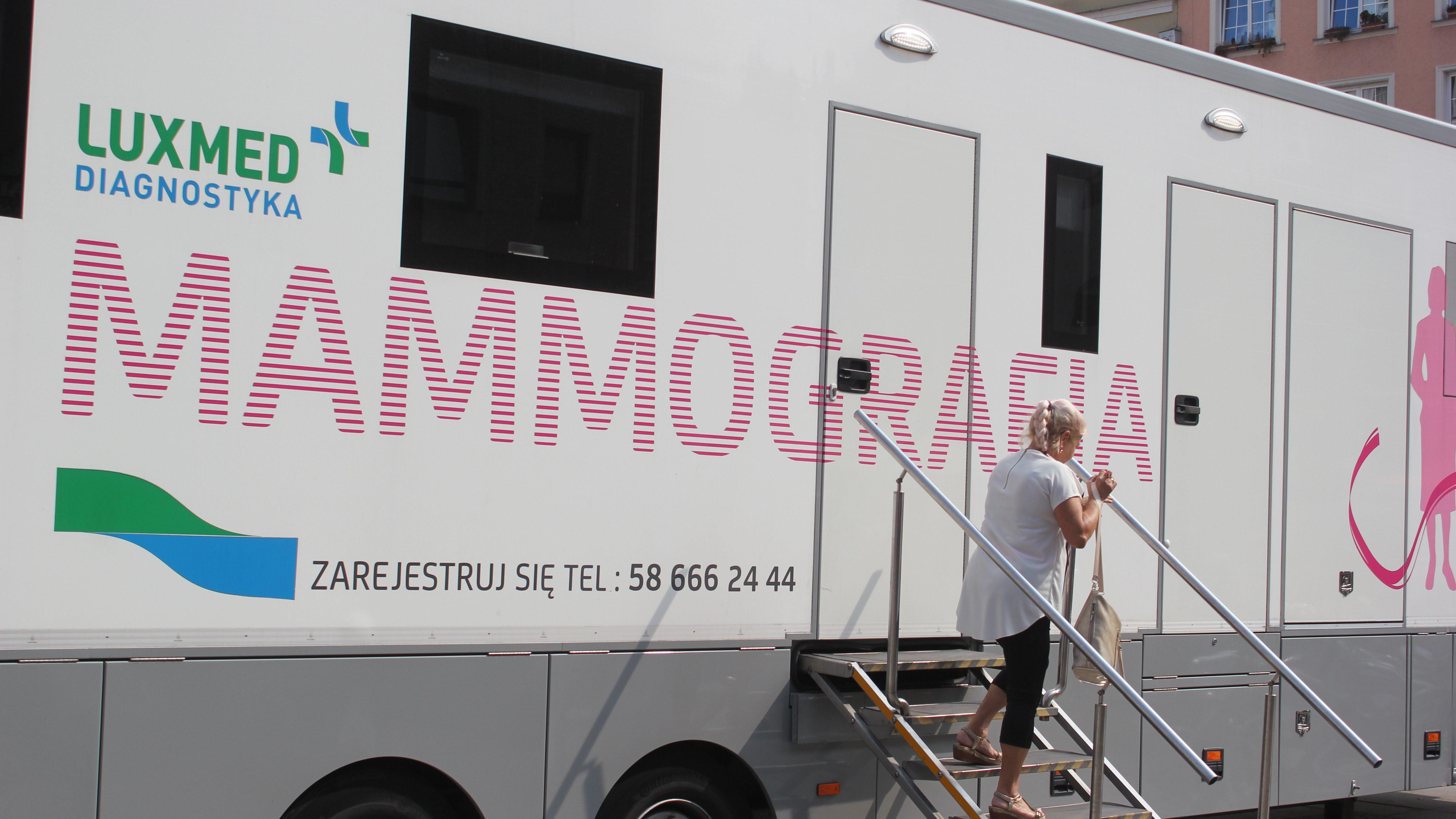 Mammografia podczas Marszu Zdrowia