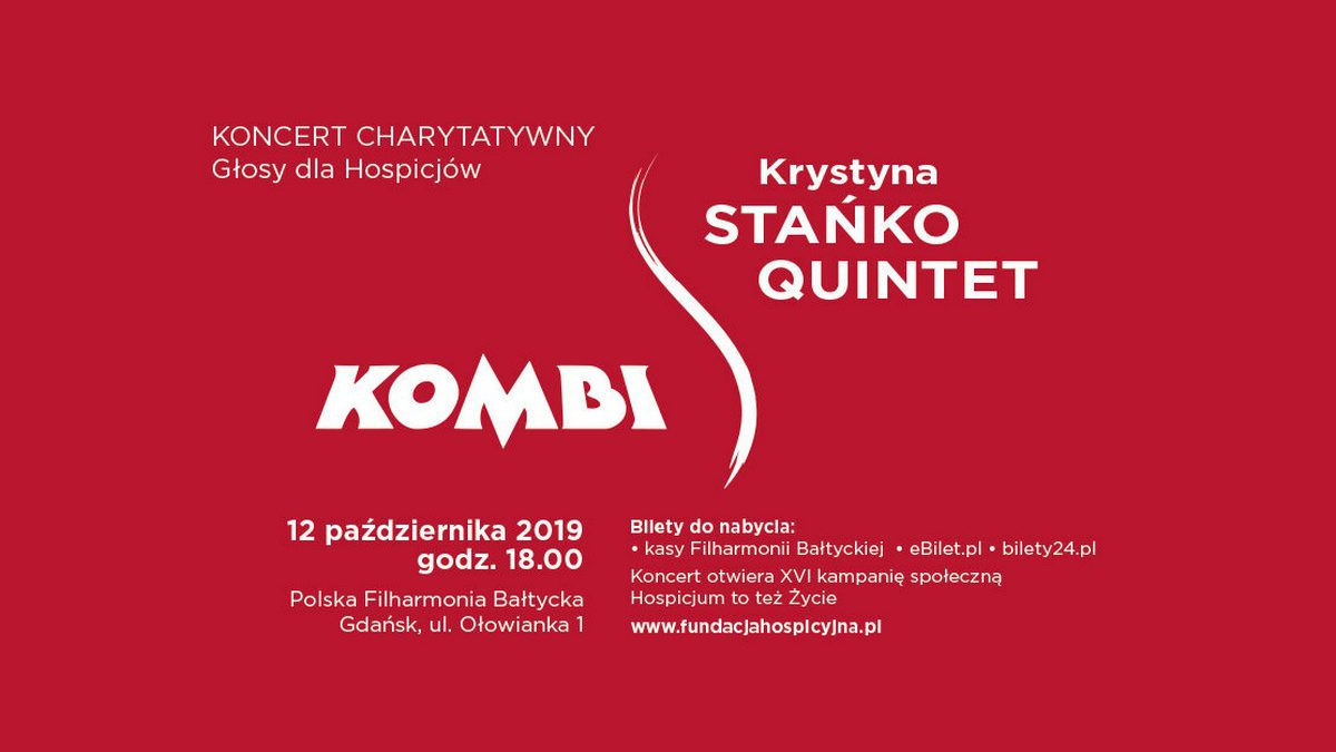 Koncert KOMBI i Krystyna Stańko Quintet w cyklu Głosy dla Hospicjów