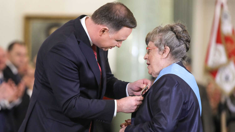 Prof. Grażyna Świątecka odznaczona Orderem Orła Białego