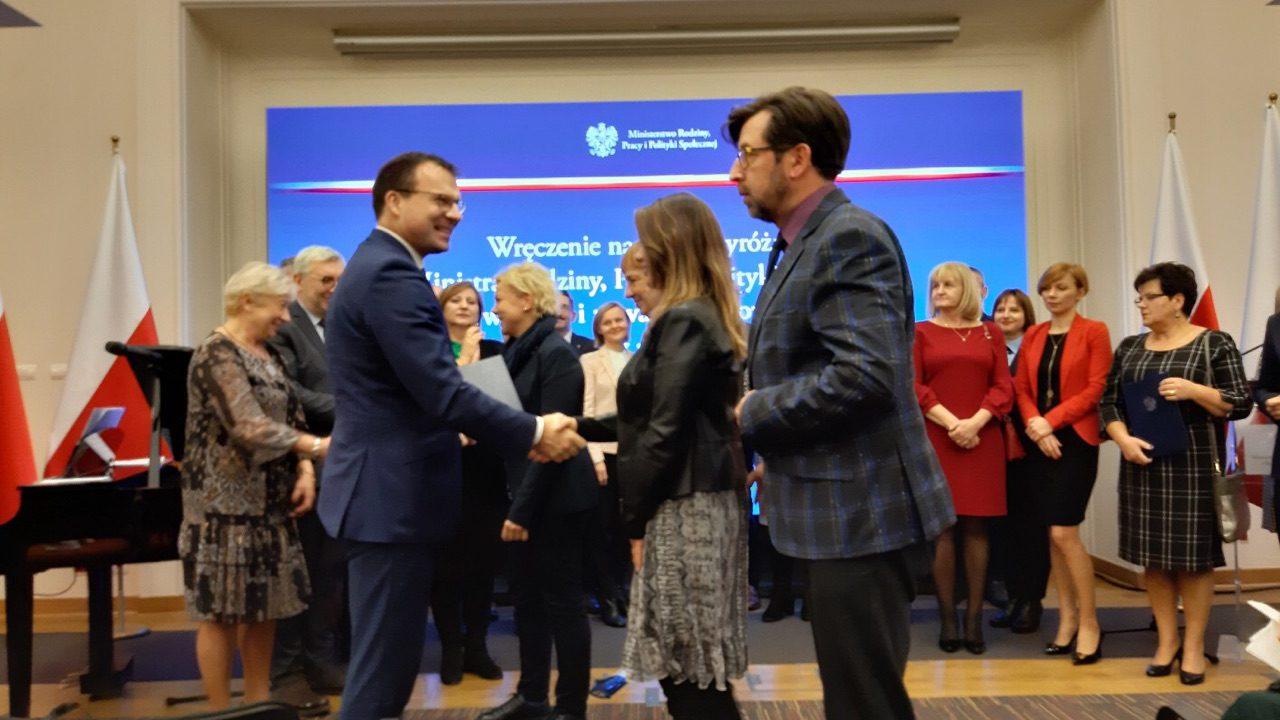 Gdańsk: MOPR nagrodzony w ministerstwie