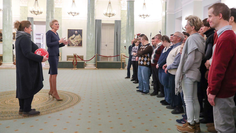 Zawodnicy Olimpiad Specjalnych w Pałacu Prezydenckim