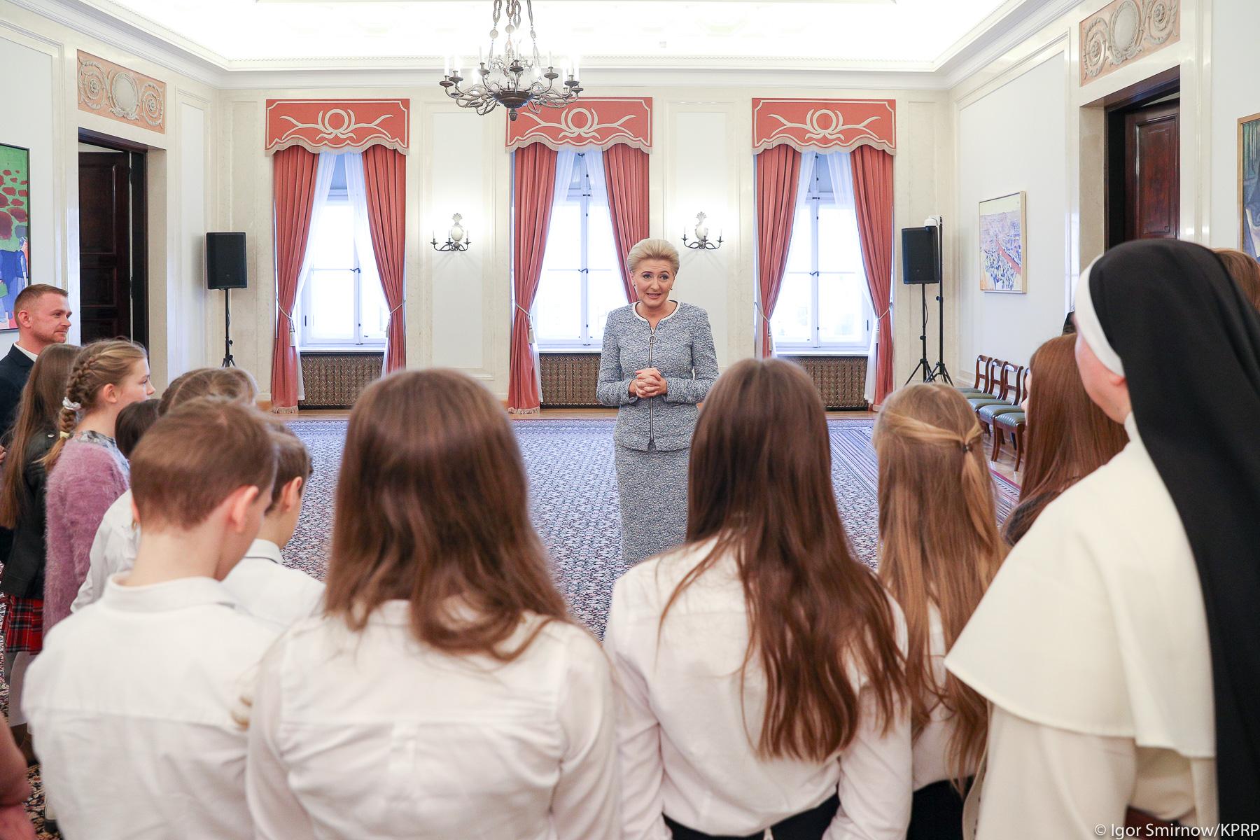Wolontariusze odwiedzili Pałac Prezydencki