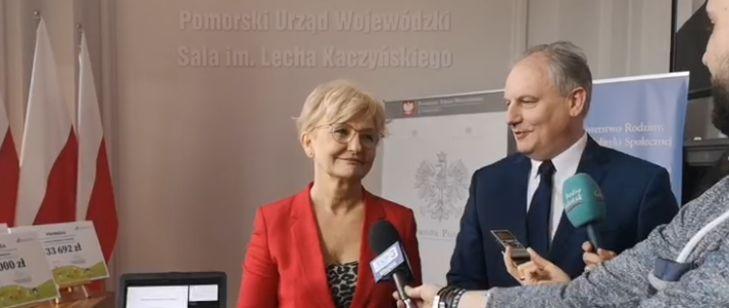 """Promesy """"Maluch+"""" dla Pomorza. Minister Michałek w Gdańsku"""