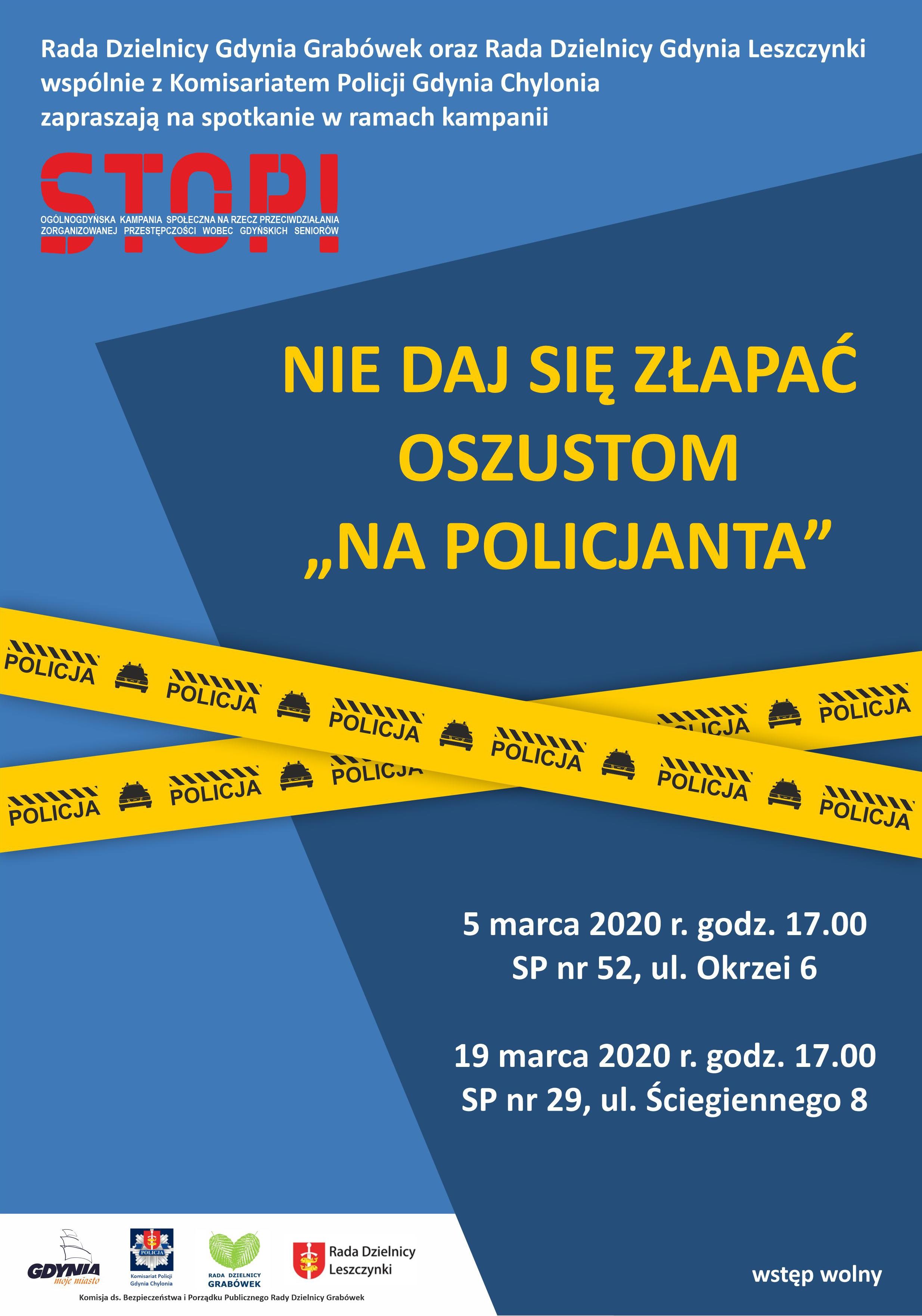 """Gdynia: """"Nie daj się złapać oszustom na policjanta"""""""
