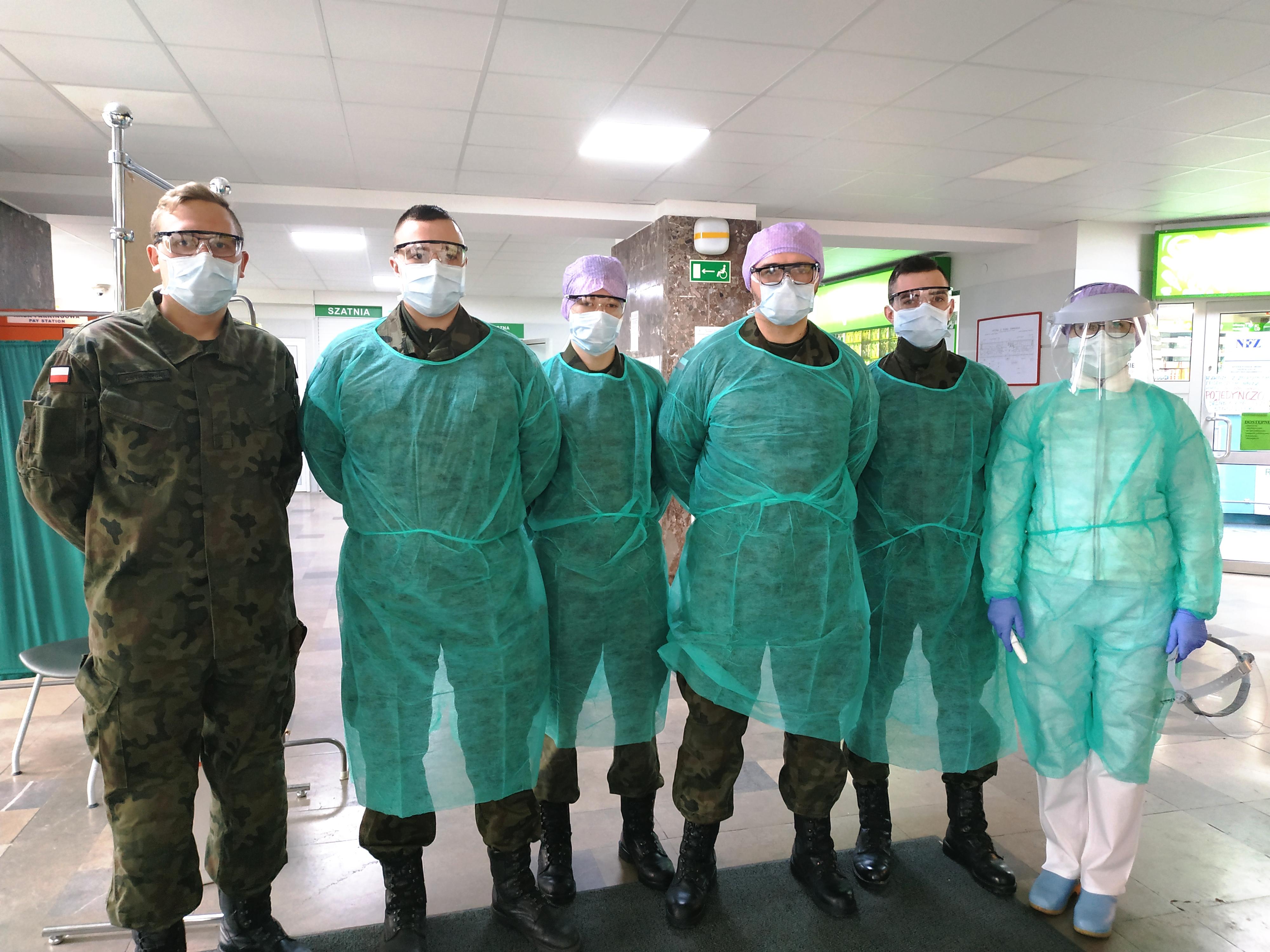 Żołnierze WOT z Braniewa od dzisiaj wspomagają personel medyczny