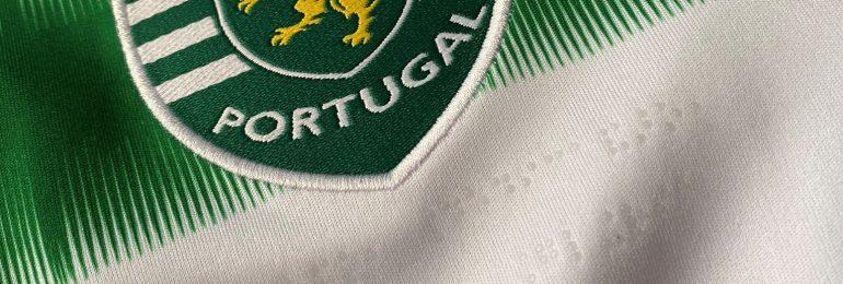 Nowa koszulka meczowa Sportingu z nazwą klubu w języku braille'a