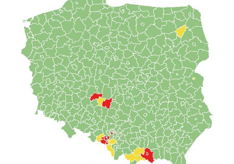 Od piątku 18 powiatów objętych obostrzeniami – o jeden mniej niż dotychczas
