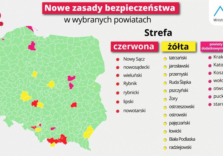 Kraska: Siedem powiatów w kategorii czerwonej