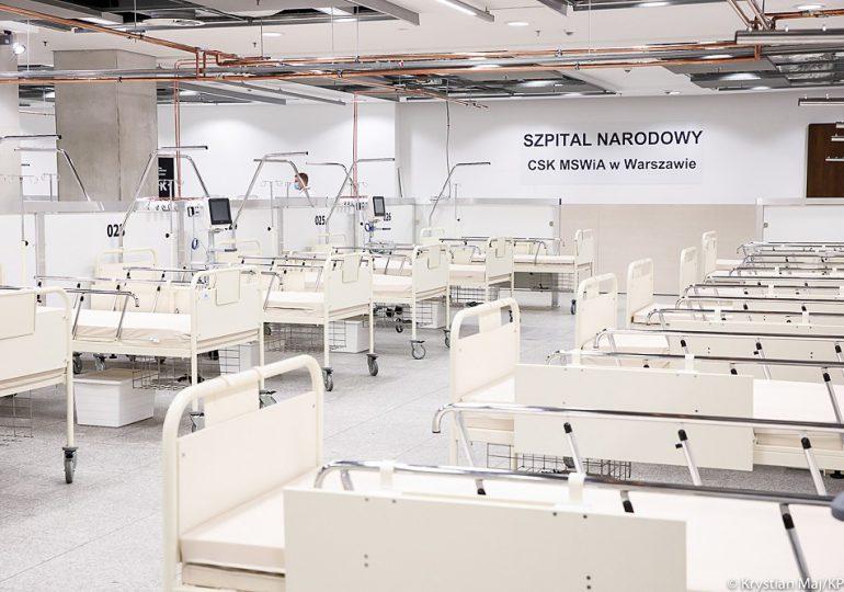Warszawa: W Szpitalu Narodowym przebywa 53 pacjentów