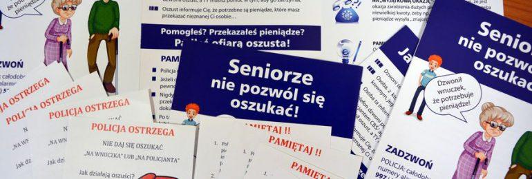 Gdynia: Seniorze! Nie daj się oszukać!