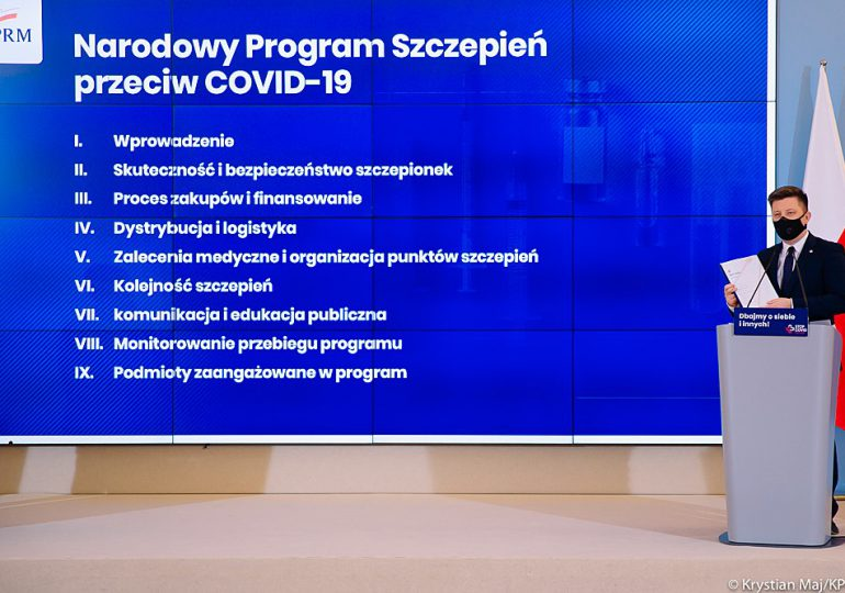 Dworczyk: Celem Narodowego Programu Szczepień przeciwko COVID-19 – doprowadzenie w 2021 r. do odporności populacji