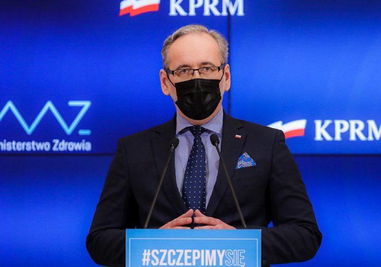 Minister zdrowia zarejestrował się na szczepienie przeciw COVID-19