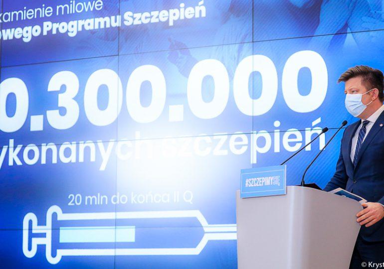 Dworczyk: W tym tygodniu planujemy wykonać 1,6 mln szczepień
