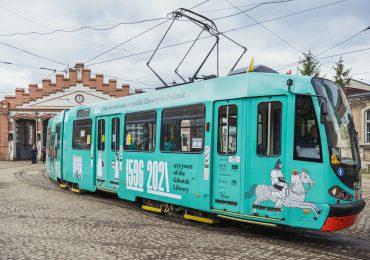 Tramwaj zapowiada 425 urodziny Biblioteki Gdańskiej