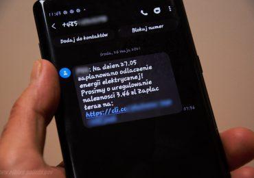 Uwaga na fałszywe SMS-y o niezapłaconym rachunku za prąd