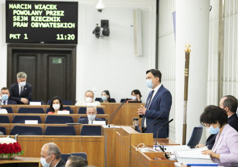 Senat za powołaniem prof. Marcina Wiącka na Rzecznika Praw Obywatelskich