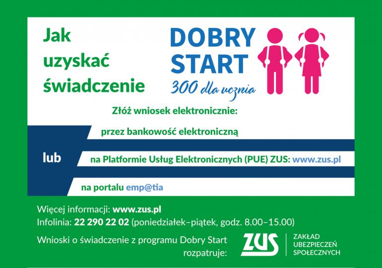 """Pierwsze wypłaty środków w ramach programu """"Dobry start"""""""