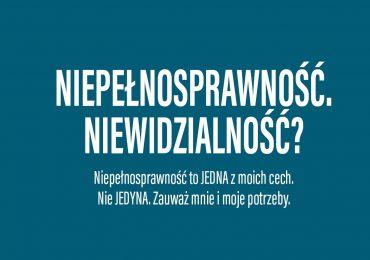 """Wrocław: Kampania społeczna """"Niepełnosprawność. Niewidzialność? To ja!"""""""