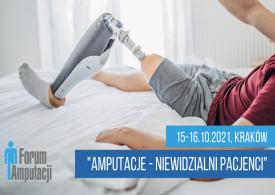 """Konferencja """"Amputacje – niewidzialni pacjenci"""""""