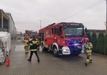 Strażacy ćwiczyli na składowisku odpadów łatwopalnych